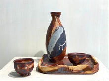 Load image into Gallery viewer, Early winter 初冬 </br>(1 Sake bottle, 2 cups, 1 plate)</br>  Kate SIU