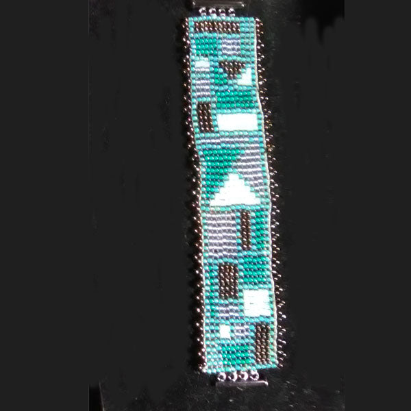 seed bead loom 8/0 bracelet with edging