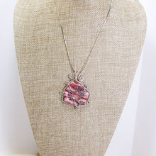 Load image into Gallery viewer, Odetta Wire Wrap Cabochon Pendent Necklace relevant front view