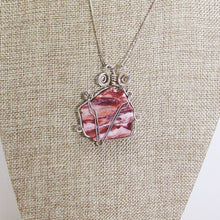 Load image into Gallery viewer, Odetta Wire Wrap Cabochon Pendent Necklace back view