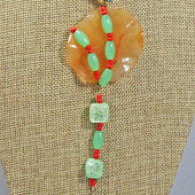 Load image into Gallery viewer, Wainani Wire Cabochon Beaded Pendant Necklace front blow up view