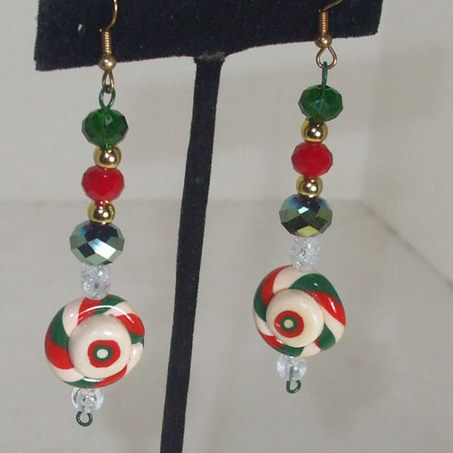 Abinaya Christmas Drop Earrings close up view