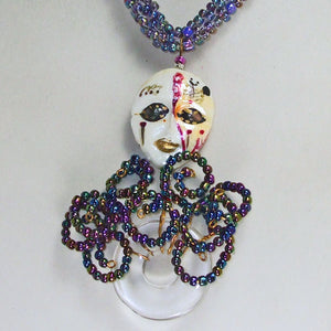 Palixena Beaded Wire Pendant Necklace blow up view