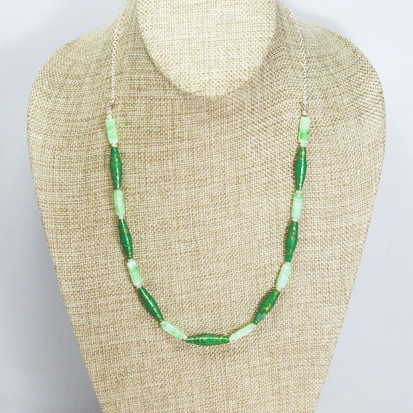 Tacita Paper Bead Necklace relevant front view