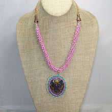 Load image into Gallery viewer, Bahiti Bead Embroidery Pendant Necklace front relevant view
