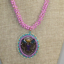 Load image into Gallery viewer, Bahiti Bead Embroidery Pendant Necklace front close view