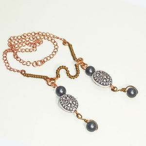 Xirena Beaded Costume Jewelry Necklace flat view
