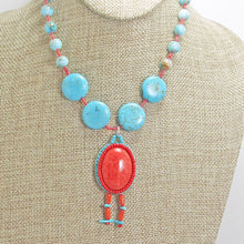 Load image into Gallery viewer, Cache Bead Embroidery Pendant Necklace