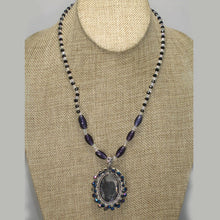 Load image into Gallery viewer, Xaier Bead Embroidery Cabochon Pendant Necklace front relevant view