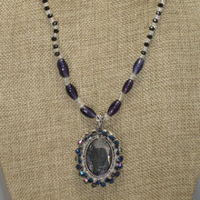 Load image into Gallery viewer, Xaier Bead Embroidery Cabochon Pendant Necklace front blow up view