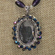 Load image into Gallery viewer, Xaier Bead Embroidery Cabochon Pendant Necklace front pin up view