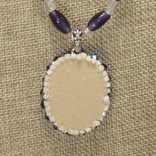 Load image into Gallery viewer, Xaier Bead Embroidery Cabochon Pendant Necklace back view