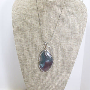 Valorie Wire Wrap Cabochon Pendant Necklace relevant front view