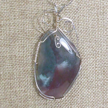 Load image into Gallery viewer, Valorie Wire Wrap Cabochon Pendant Necklace blow up view