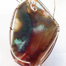 Load image into Gallery viewer, Valorie Wire Wrap Cabochon Pendant Necklace pin up view