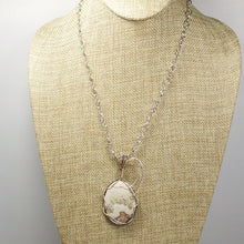 Load image into Gallery viewer, Utalia Cabochon Pendant Necklace front relevant view