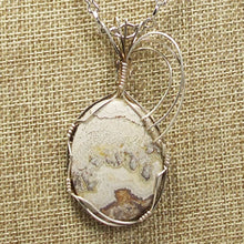 Load image into Gallery viewer, Utalia Cabochon Pendant Necklace front blow up view