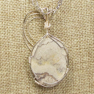 Utalia Cabochon Pendant Necklace back close view