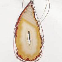 Load image into Gallery viewer, Taija Wire Wrap Cabochon Pendant Necklace pin up view
