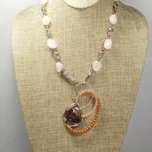 Load image into Gallery viewer, Jaamini Jasper Cabochon Pendant Necklace front relevant view