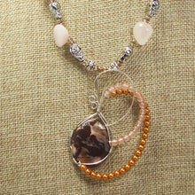 Load image into Gallery viewer, Jaamini Jasper Cabochon Pendant Necklace front close view