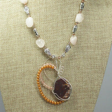 Load image into Gallery viewer, Jaamini Jasper Cabochon Pendant Necklace back close view
