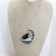 Load image into Gallery viewer, Sadee Wire Wrap Cabochon Pendant Necklace relevant front view