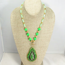 Load image into Gallery viewer, Radmilla Bead Embroidery Beaded Pendant Necklace relevant front view
