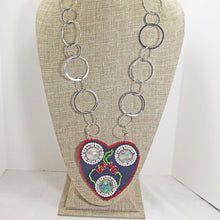 Load image into Gallery viewer, Kagami Bead Embroidery Mother-of-Pearl Pendant necklace relevant view