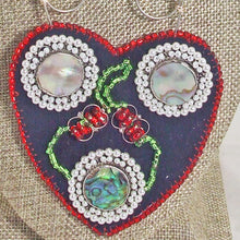 Load image into Gallery viewer, Kagami Bead Embroidery Mother-of-Pearl Pendant necklace blow up view
