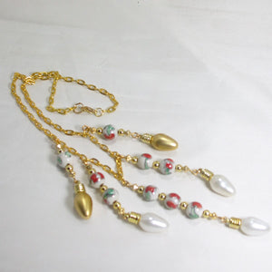 Caledonia Christmas Single Strand Necklace flat view