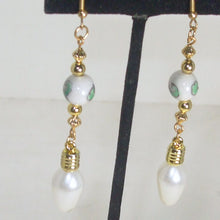 Load image into Gallery viewer, Dacia Christmas Lightbulb Earrings close up view