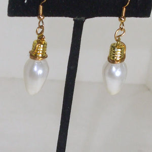 Fariha Christmas Lightbulb Earrings close up view