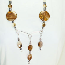 Load image into Gallery viewer, Barika Beaded Agate Costume Jewelry Necklace close up view