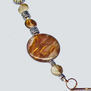 Barika Beaded Agate Costume Jewelry Necklace pin up view