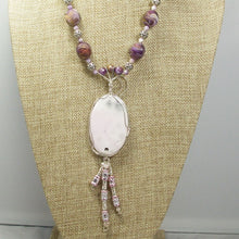 Load image into Gallery viewer, Gail Chalcedony Cabochon Pendant Necklace back close view