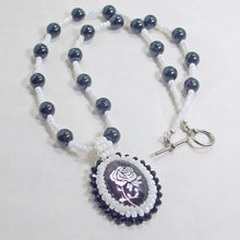 Load image into Gallery viewer, Faith Bead Embroidery Pendant Necklace flat view