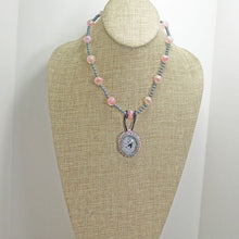 Load image into Gallery viewer, Macra Bead Embroidery Pendant Necklace relevant front view