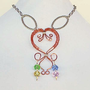 Daiya Wire Jewelry Necklace relevant front view