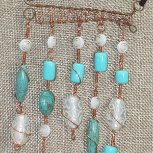 Calfuray Beaded Pendant Necklace pin up view