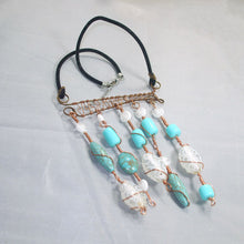 Load image into Gallery viewer, Calfuray Beaded Pendant Necklace flat view
