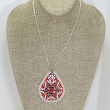 Load image into Gallery viewer, Lacrecia Bead Embroidery Pendant Necklace relevant front view