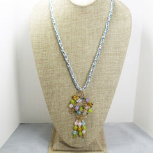 Load image into Gallery viewer, Nahama Beaded Wire Pendant Necklace front relevant view