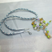 Load image into Gallery viewer, Nahama Beaded Wire Pendant Necklace flat view