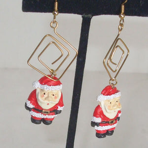 Hafsa Christmas Dangle Earrings close up view