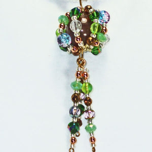 Edian Beaded Bead Costume Jewelry Pendant Necklace blow up view