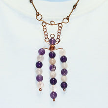 Load image into Gallery viewer, Garcia Wire Design Beaded Jewelry Necklace close up view