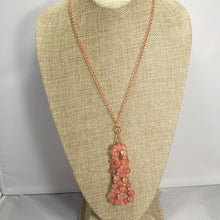 Load image into Gallery viewer, Sabrina Beaded Cancer Pendant Necklace relevant view