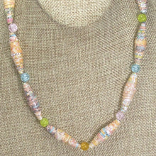 Load image into Gallery viewer, Odessa Paper Bead Necklace close up view