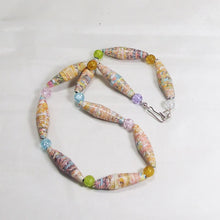 Load image into Gallery viewer, Odessa Paper Bead Necklace flat view